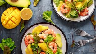 A mangó a garnélával világbajnok, ezzel az egyszerű salátával az is kiderül, miért