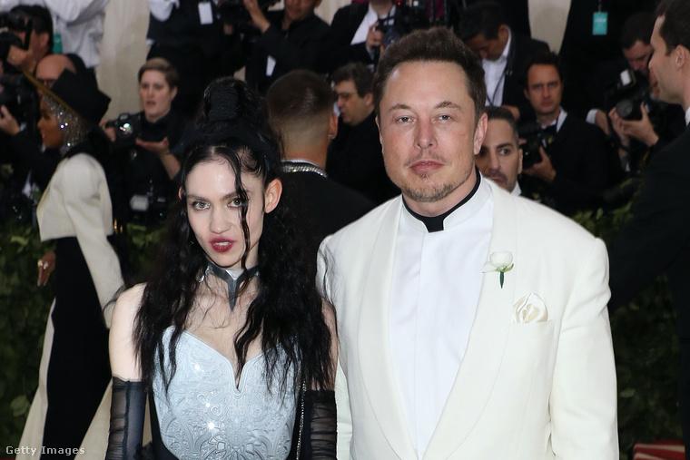 Grimes és Elon Musk a vörös szőnyegen, 2018-ban.