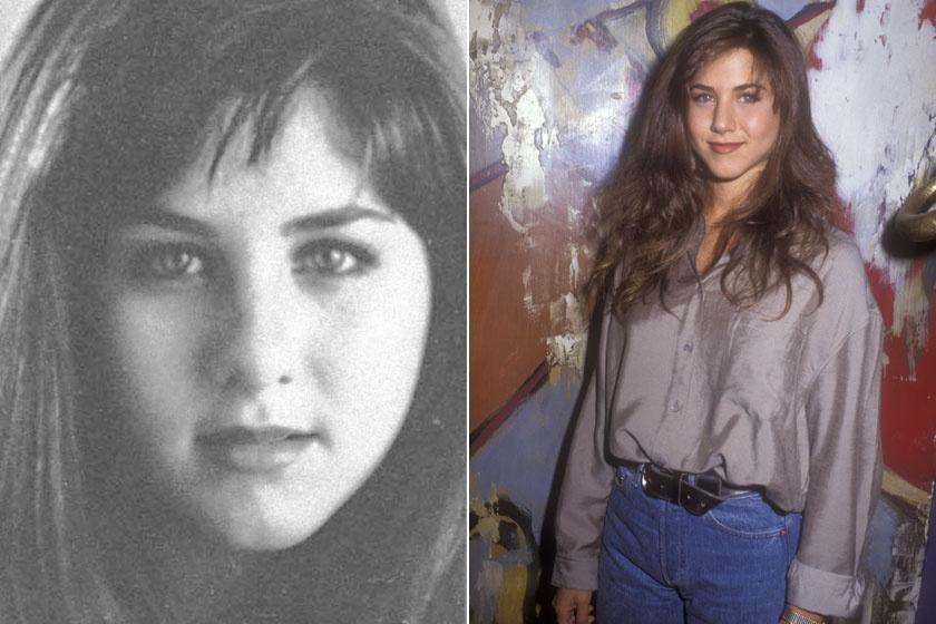 Jennifer Aniston 1987-ben és 1990-ben.