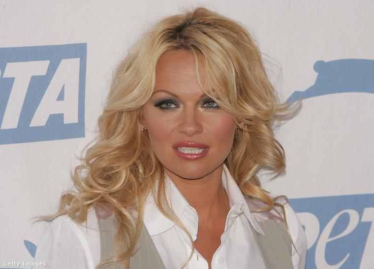 Pamela Anderson egy 2005-ös PETA-gálán.