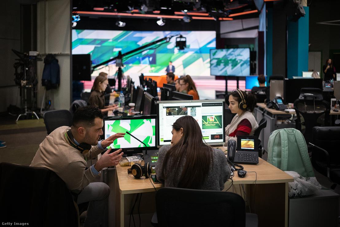 Az RT stúdiója Moszkvában 2019 decemberében