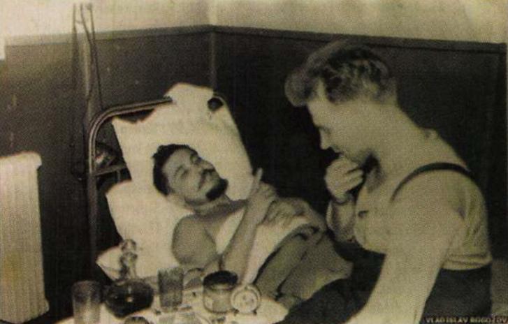 Leonid Rogozov barátjával, Jurij Vereschaginnal