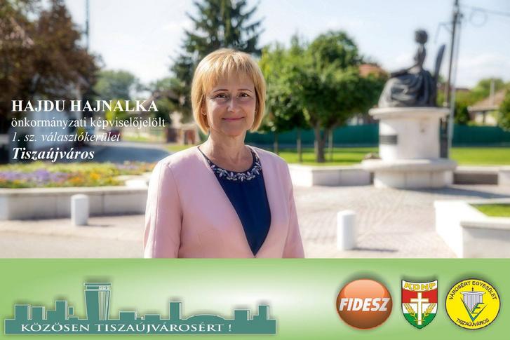 Hajdu Hajnalka 2019-es önkormányzati választási kampányplakátja