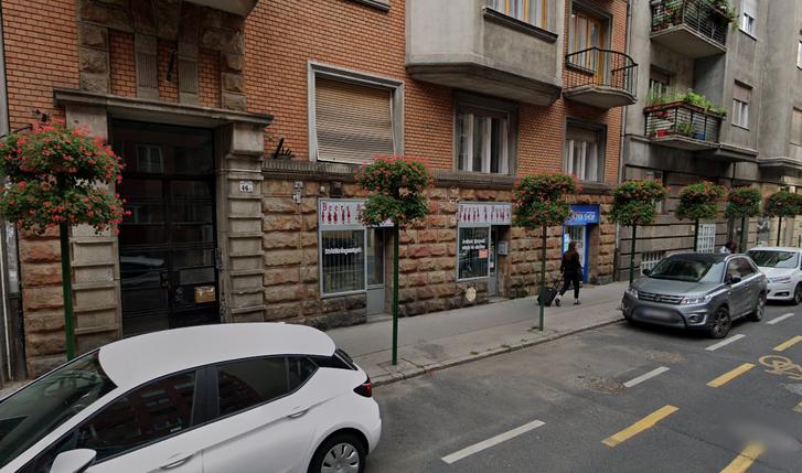 Baleset helyszíne a budapesti Pannónia utcában (Bors felvétele alapján)