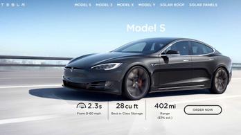 640 km felett a Tesla Model S hatótávja