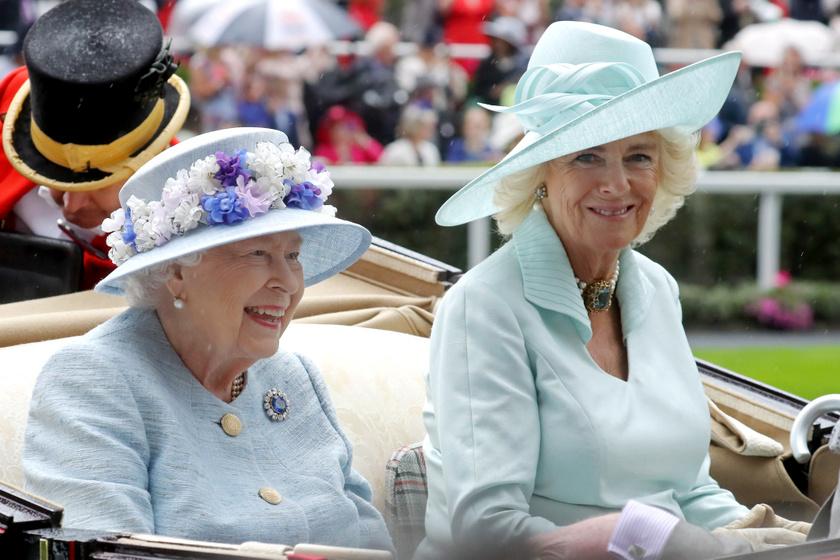 Erzsébet királynő és Kamilla hercegné a tavalyi ascoti versenyek második napján.