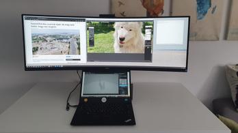 Amikor szélesebb a monitor az asztalnál