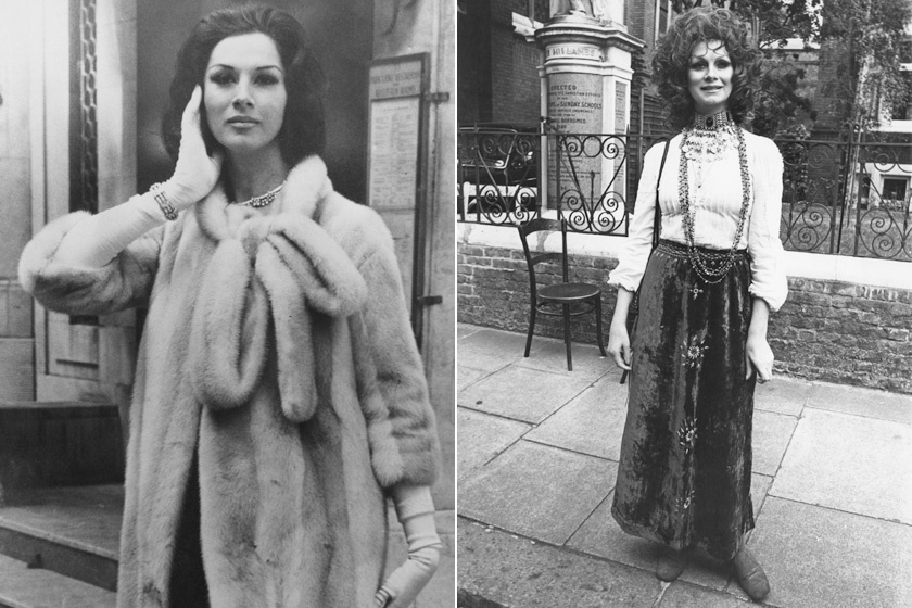 April Ashley 1962-ben és 1972-ben