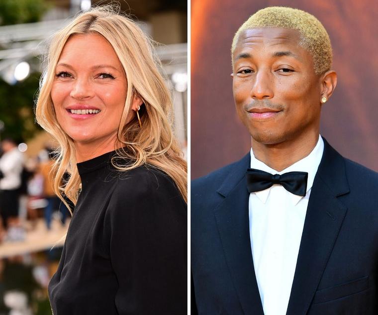 Kate Moss és Pharrell WilliamsÚjabb furcsa összeállítás, de higgyék el, bennük is van valami közös: mindketten 47 évesek