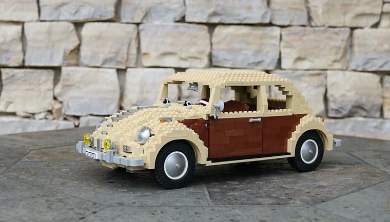 Ez a VW Bogár - hasonlóan az első részben a piros-fehér modellhez - egyedi, darabonként kellett megvásárolni, szettként nem létezik
