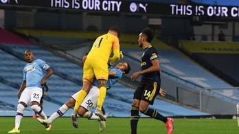 Úgy kiütötték a Manchester City védőjét, hogy kórházba került