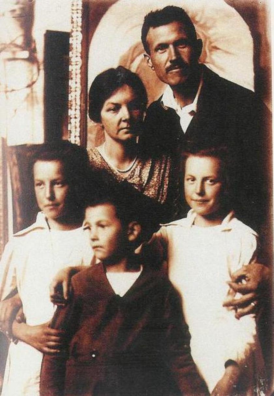 Bory Jenő és családja.