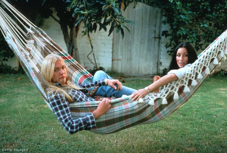 Gregg Allman és Cher az otthonukban.