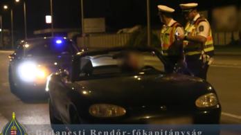 Illegális gyorsulási versenyek ellen akcióztak a rendőrök Budapesten