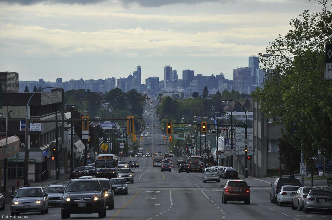 Autóforgalom Vancouver belvárosában