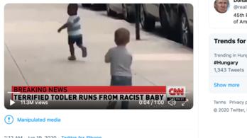 Kamu videóval álhírgyározta le Trump a CNN-t