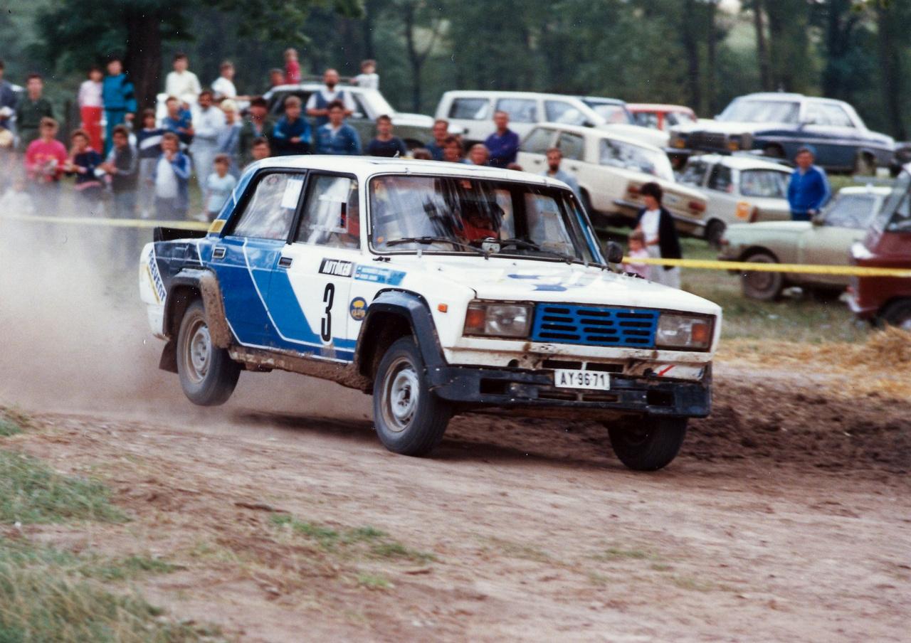 Ismét Hideg János, itt Kecskeméti Zoltánnal és egy VFTS-sel, 1988, Budapest Rali