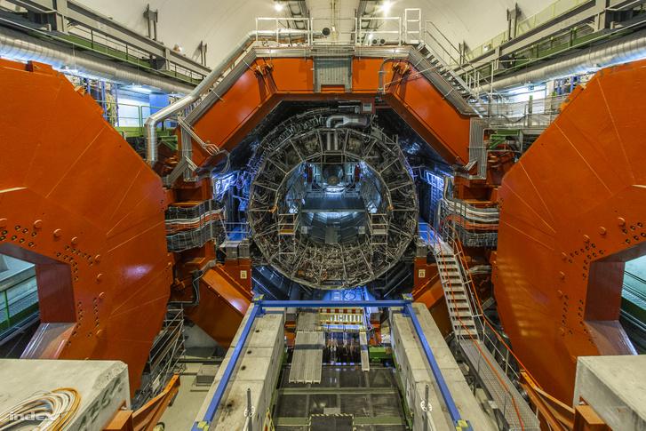 Az ALICE detektor, amin sok magyar kutató dolgozik