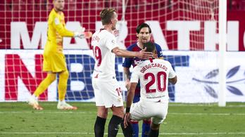 Messi lökdösődött, Sevillában ikszelt a Barcelona