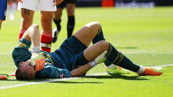 Természetellenes szögben állt az Arsenal-kapus térde