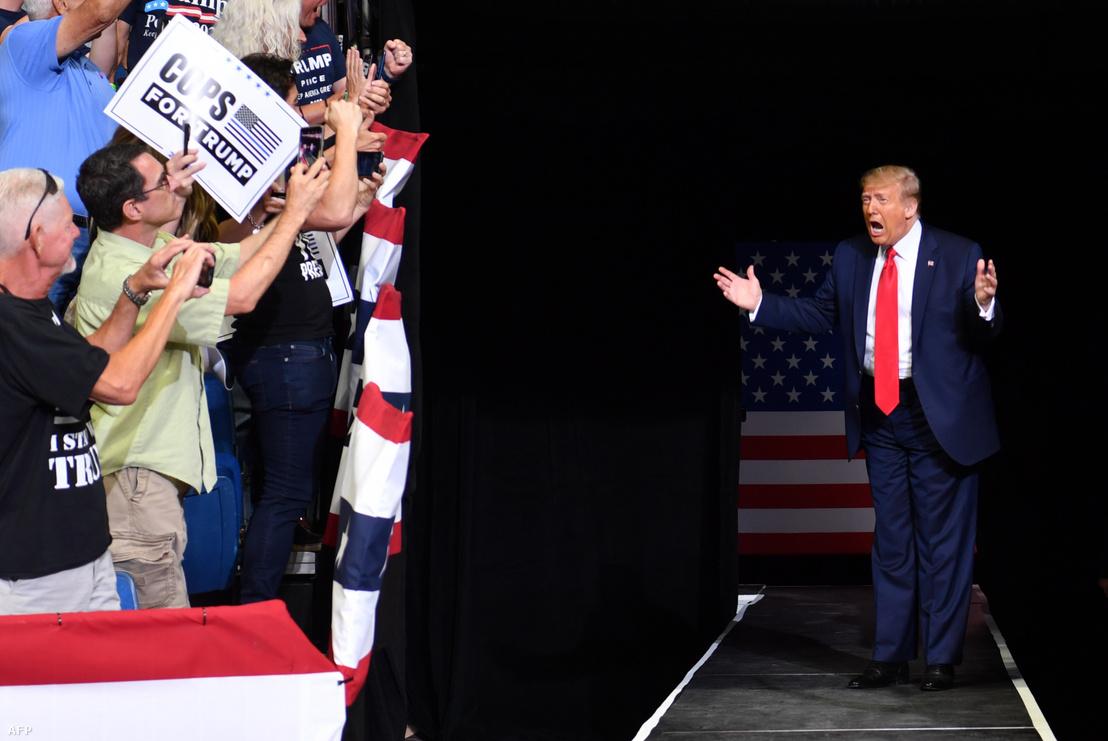 Donald Trump nagygyűlése az oklahomai Tulsa városában 2020. június 20-án.