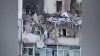 Gázrobbanás után több emelet beomlott egy kijevi házban