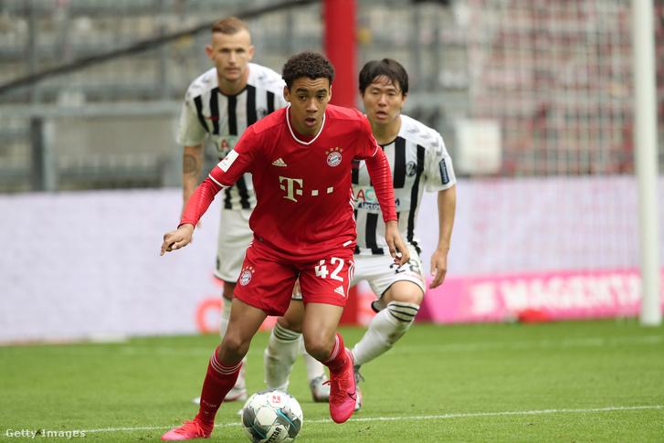 Jamal Musiala a Bayern München–Freiburg-meccsen