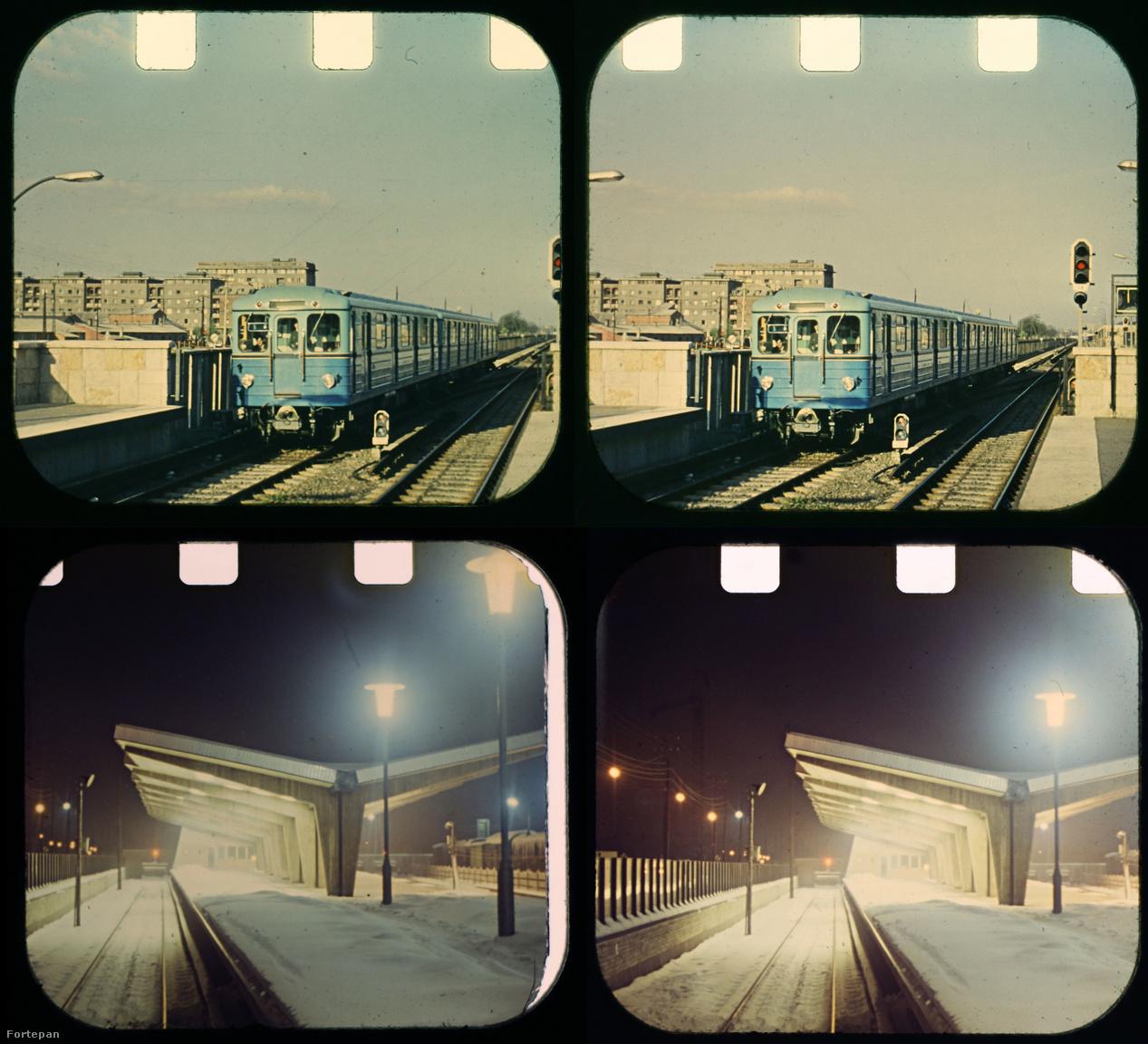 A fölső képpár 1972 előtt készült, ekkor még háromkocsis szerelvények jártak a kettes metró vonalán, és a későbbb sok gondot okozó hársfák is fiatalok még. (A megnőtt, kilombosodott fák főleg ősszel okoznak fennakadásokat a metróközlekedésben, a vágányokra hulló nedves hárslevelek ugyanis olyanok, mintha olajjal vagy zsírral kenegetnék a síneket.) Lent: havas téli este az Örs vezér téri metróállomáson.