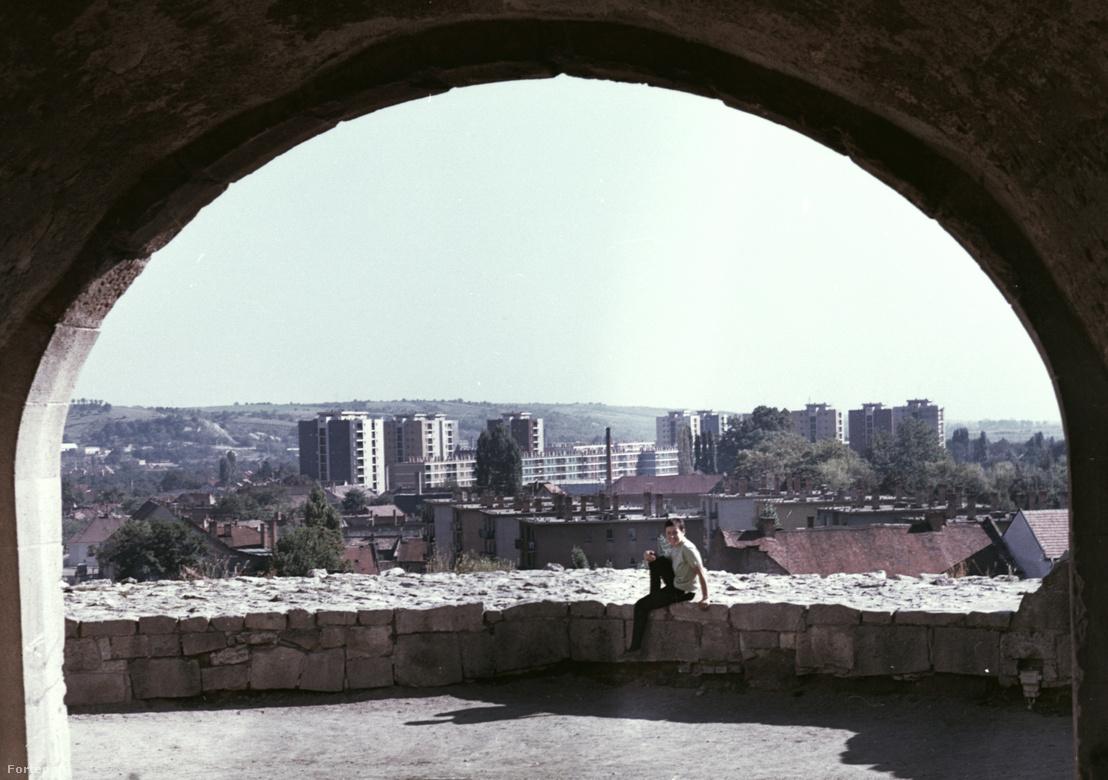 Kilátás az egri várból 70-es évek végén