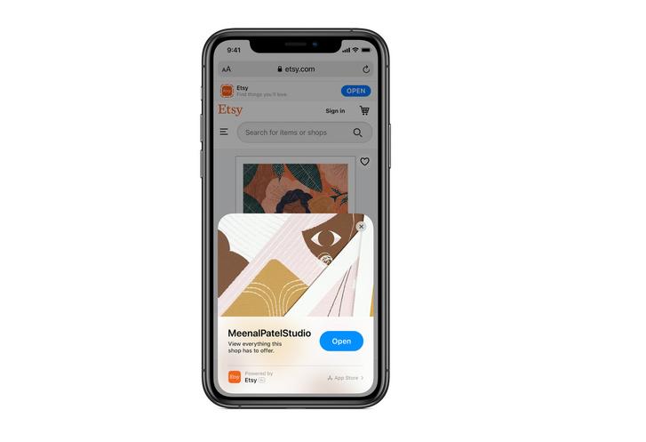 Apple ios14-app-clips-etsy-app-screen 06222020