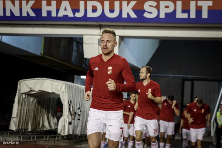 Dzsudzsák Balázs és a magyar válogatott a Horvátország - Magyarország mérkőzésen 2019. október 10-én