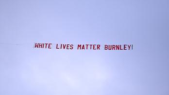 Black Lives Matter-ellenes felirat jelent meg a Manchester City stadionja felett