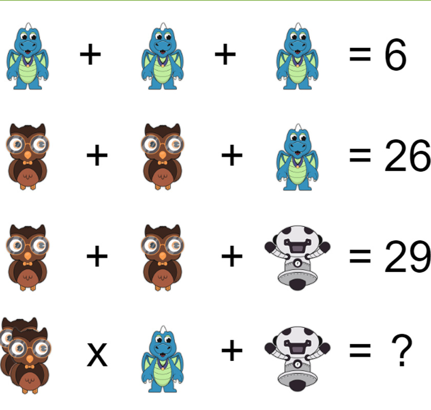 Milyen szám kerül a kérdőjel helyére?