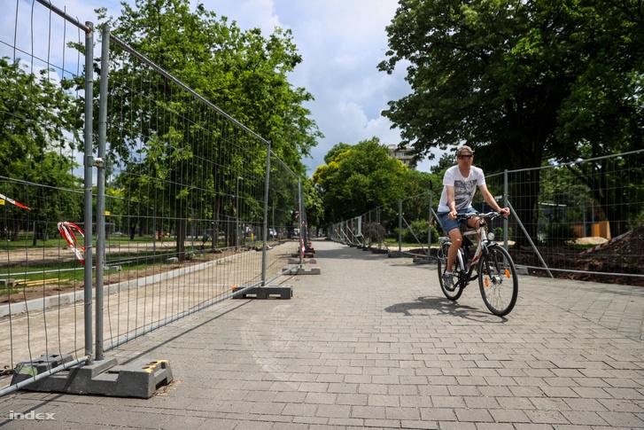 Olof Palme sétány állapota 2020. június 17-én