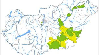 Árvíz fenyeget a Tiszán az elmúlt napok esőzései miatt