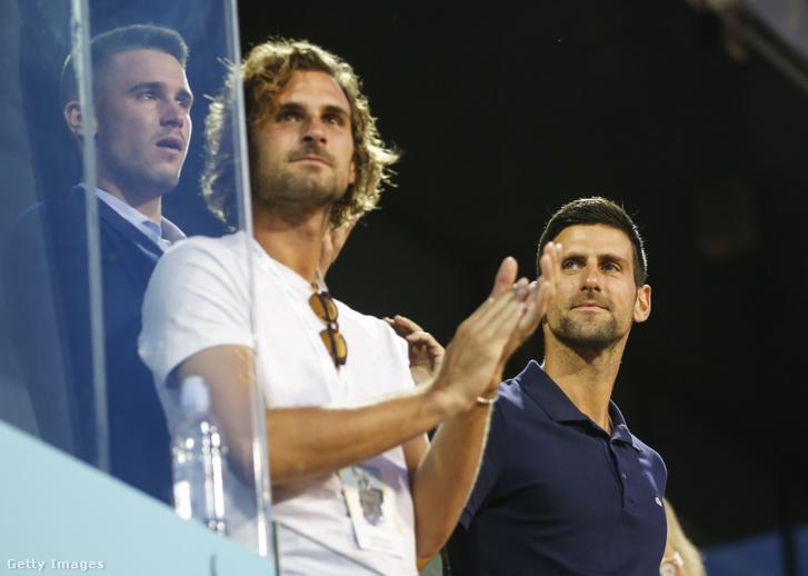 Novak Djokovic a saját maga szervezett tenisztornán.