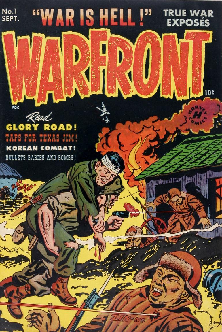A Harvey Comics 1951-es képregénysorozata, a Warfront, a háború borzalmait és izgalmait egyszerre tárta az amerikai ifjúság szeme elé.