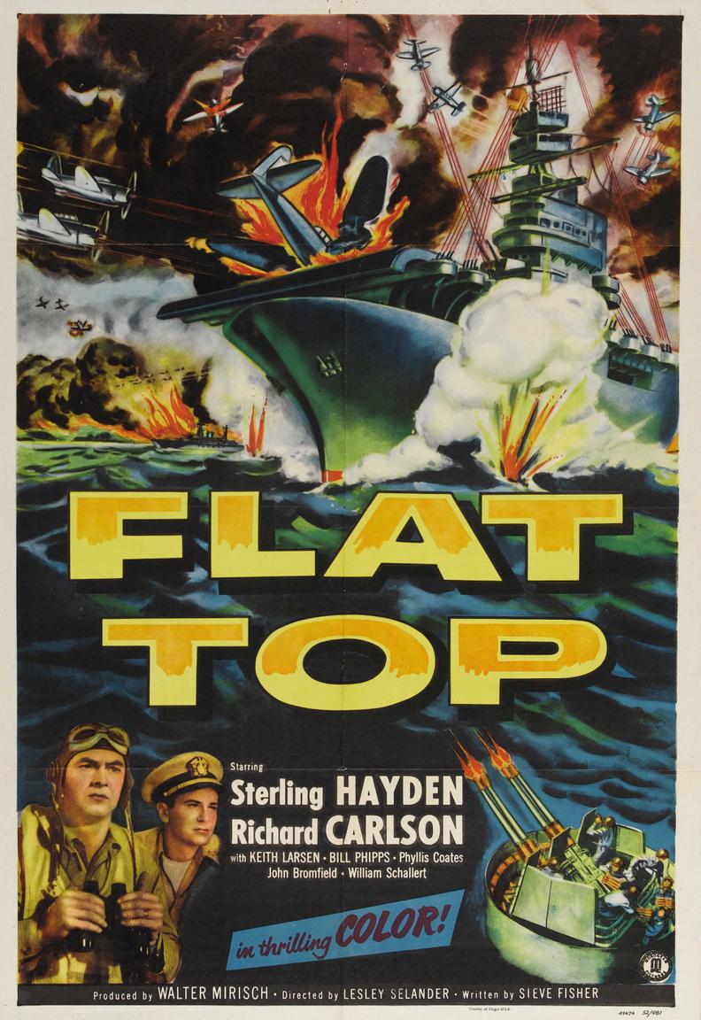 A Monogram Pictures 1952-es filmje, az Anyahajó a haditengerészet háborús hősiességét mutatta be, érdemei elismeréseképp a filmakadémia a legjobb vágás díjra jelölte.