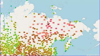 A Meteorológiai Világszervezet aggódik a sarkvidéki melegrekord miatt
