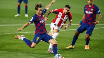 Messi remek gólpassza után, Rakitic góljával nyert a Barcelona