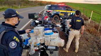 Brazíliában három BMW GS-sel szállították az 59 kiló kokaint