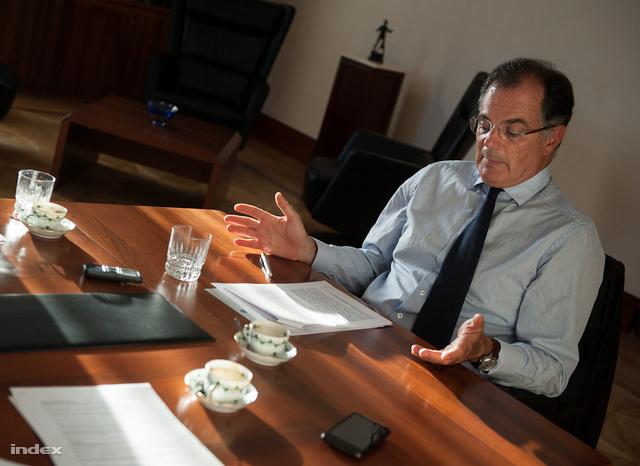 Simor András az indexnek adott szeptemberi interjúján.
