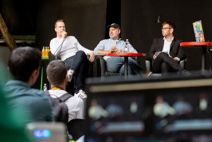 Balogh Samu, Kürti Gábor és Vitézy Dávid az eseményen