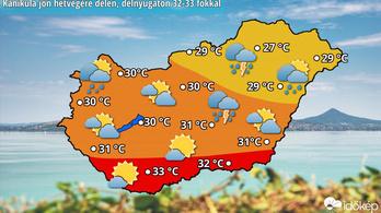 Hétvégén berobban a nyár, 33 fok is lesz