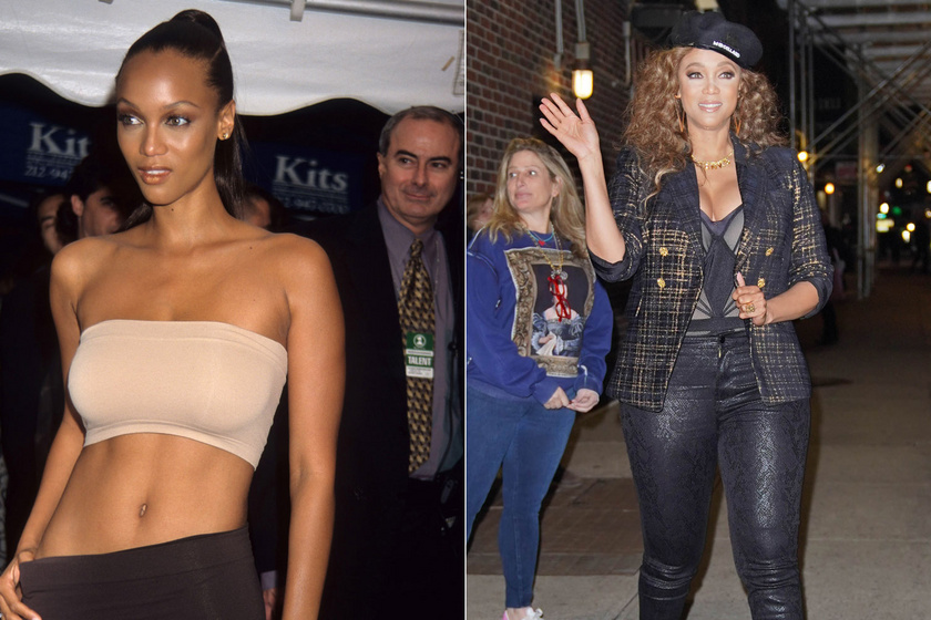 Tyra Banks 18 évesen cérnavékony alakkal robbant be a köztudatba, 46 évesen is irtó vonzó nőies idomaival.
