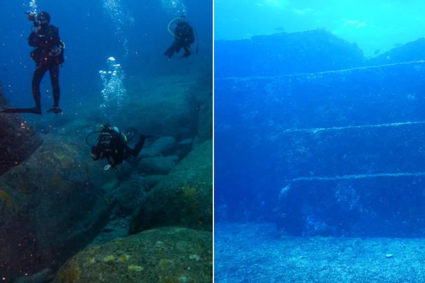 A Yonaguni emlékműnek nevezett piramisszerű építmények hevernek a Japánban található Yonaguni-szigetnél. 1986-ban fedezték fel a romokat, a részt japán Atlantiszként is emlegetik - vezetett víz alatti túrával megtekinthető.