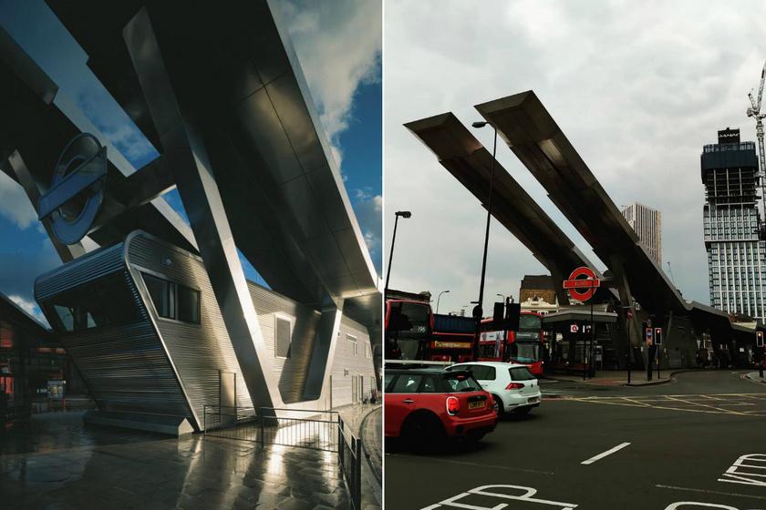 A Vauxhall buszállomás Londonban található, az Arup Associates tervezte. 2005-ben nyitották meg, ultramodern kinézetével a korábban lepusztult környéknek igazi ékévé vált.