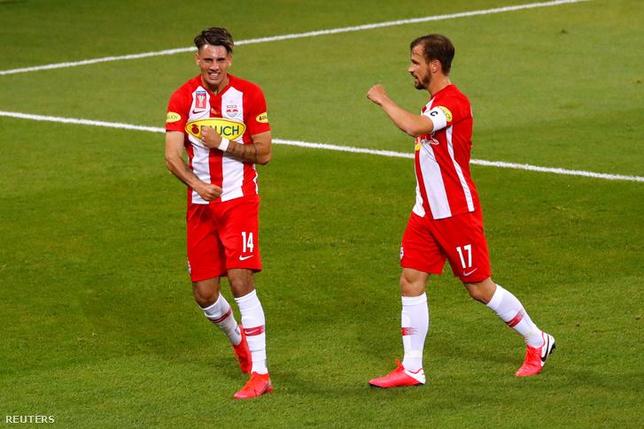 Szoboszlai (balra) és Ulmer a május végi kupadöntőben