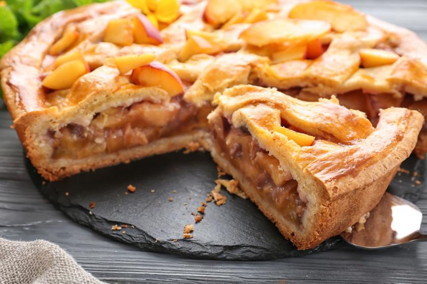 őszibarackos pite recept