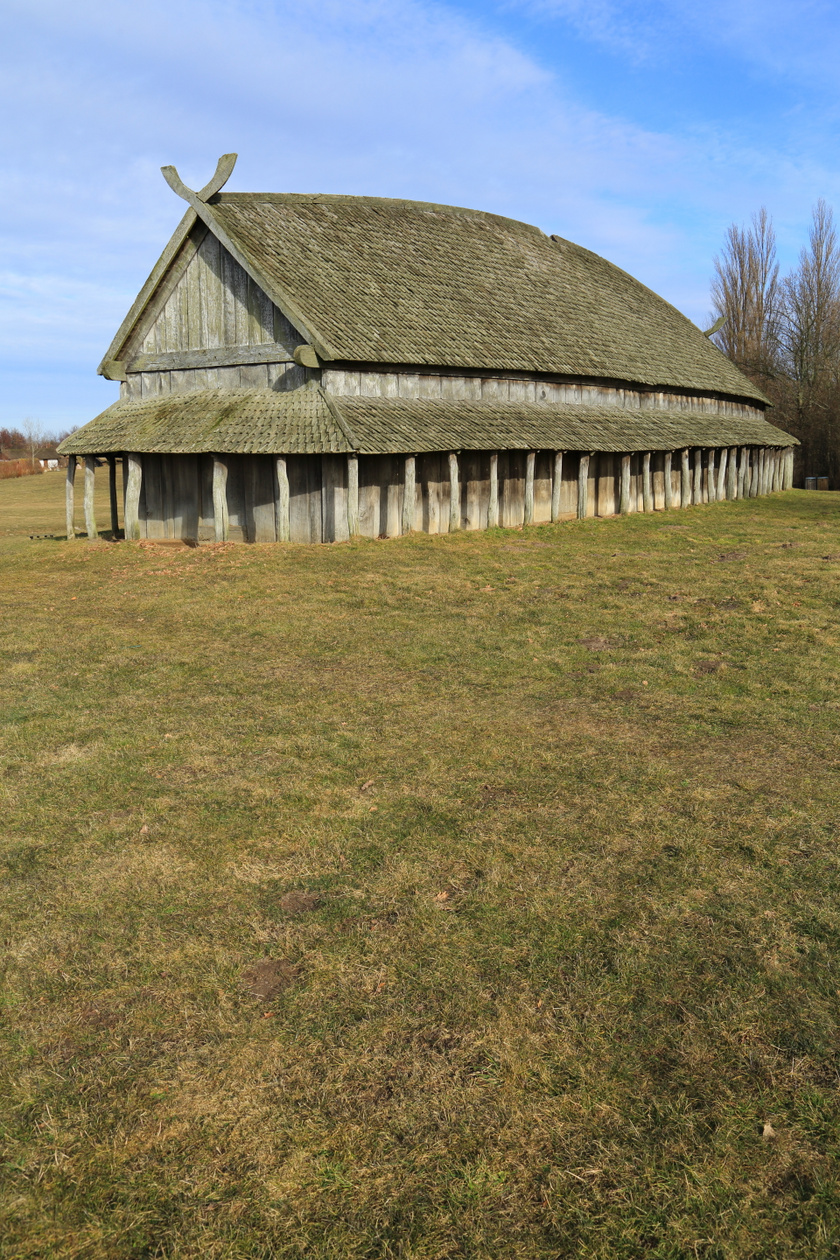 Egy tipikus viking hosszúház Dániában.